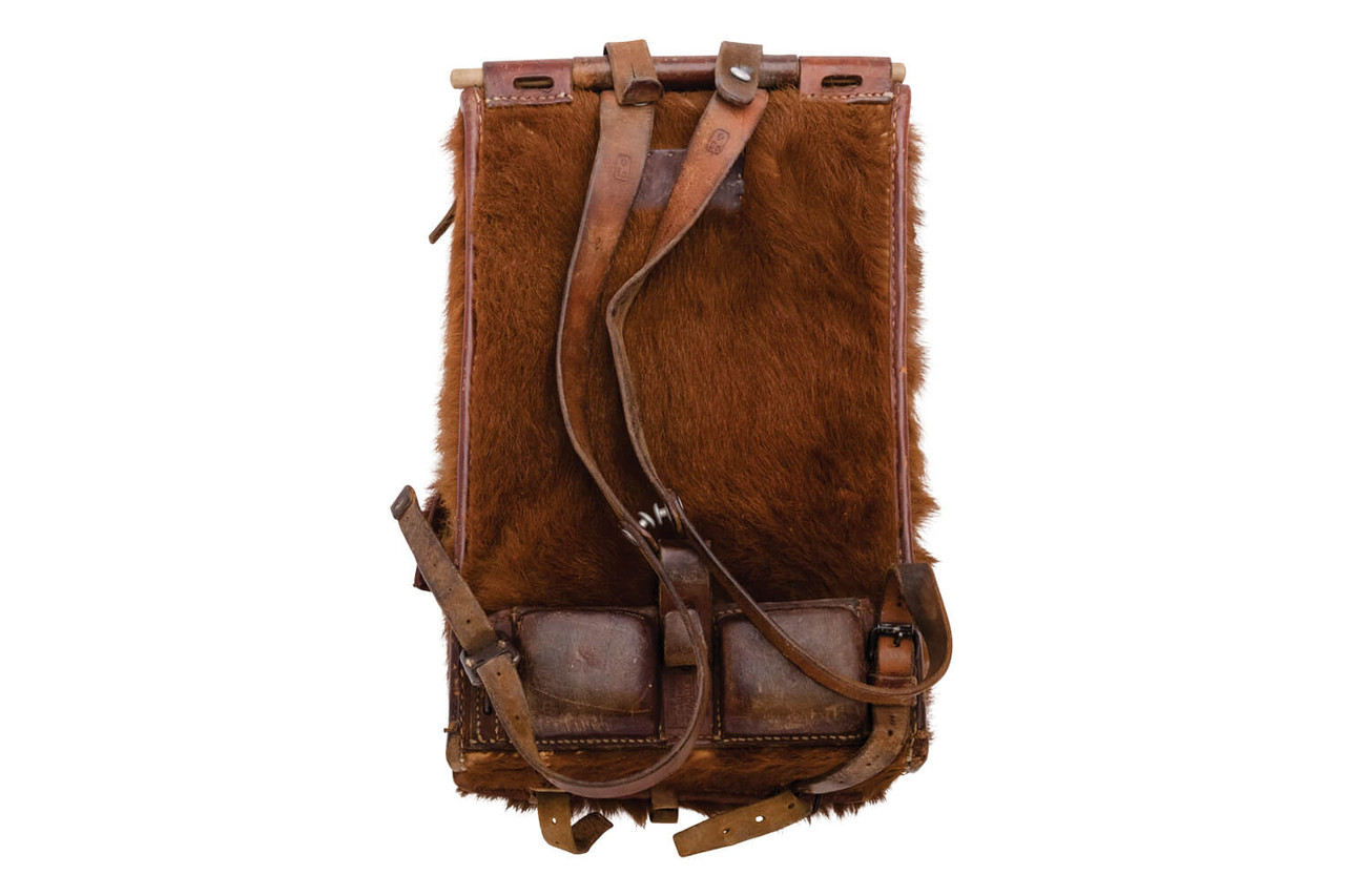 Swiss Army Cowhide Backpack with front pocket - 1939