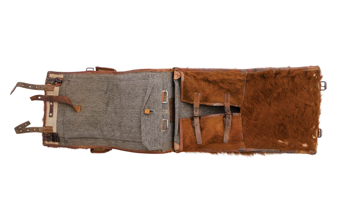 Swiss Army Cowhide Backpack with front pocket - 1935