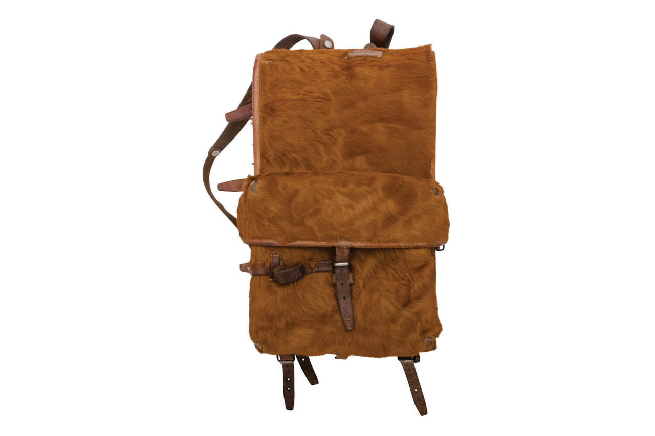 Swiss Army Cowhide Backpack with front pocket (1943)
