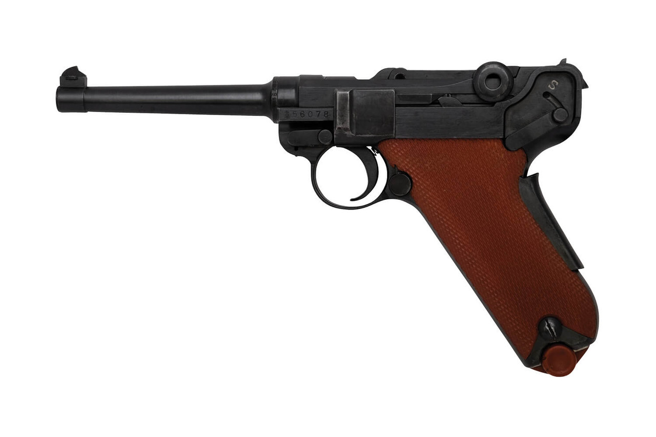 W+F Bern Swiss 06/29 Luger w/ Holster & Red Grips - sn 56xxx