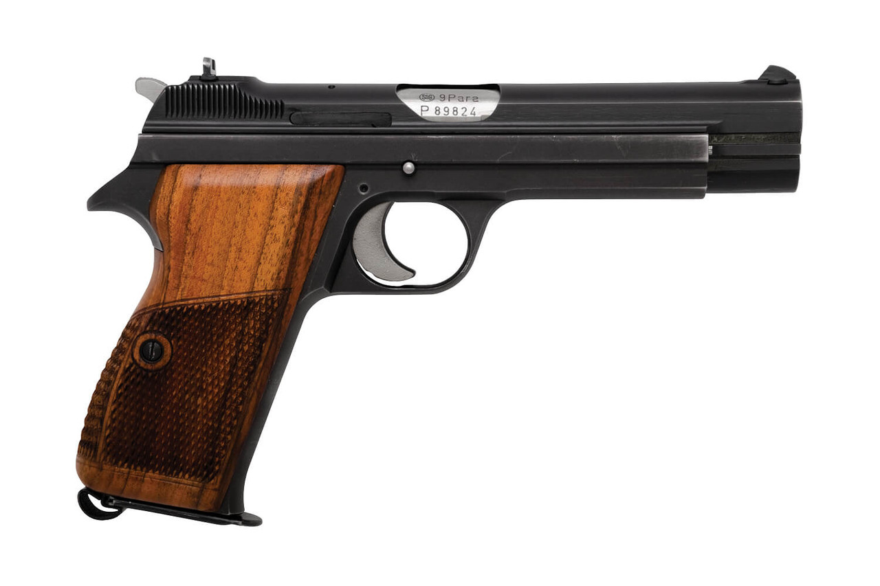 Swiss SIG P210-2 w/ Holster & Wood Grip - Private Series - sn P89xxx