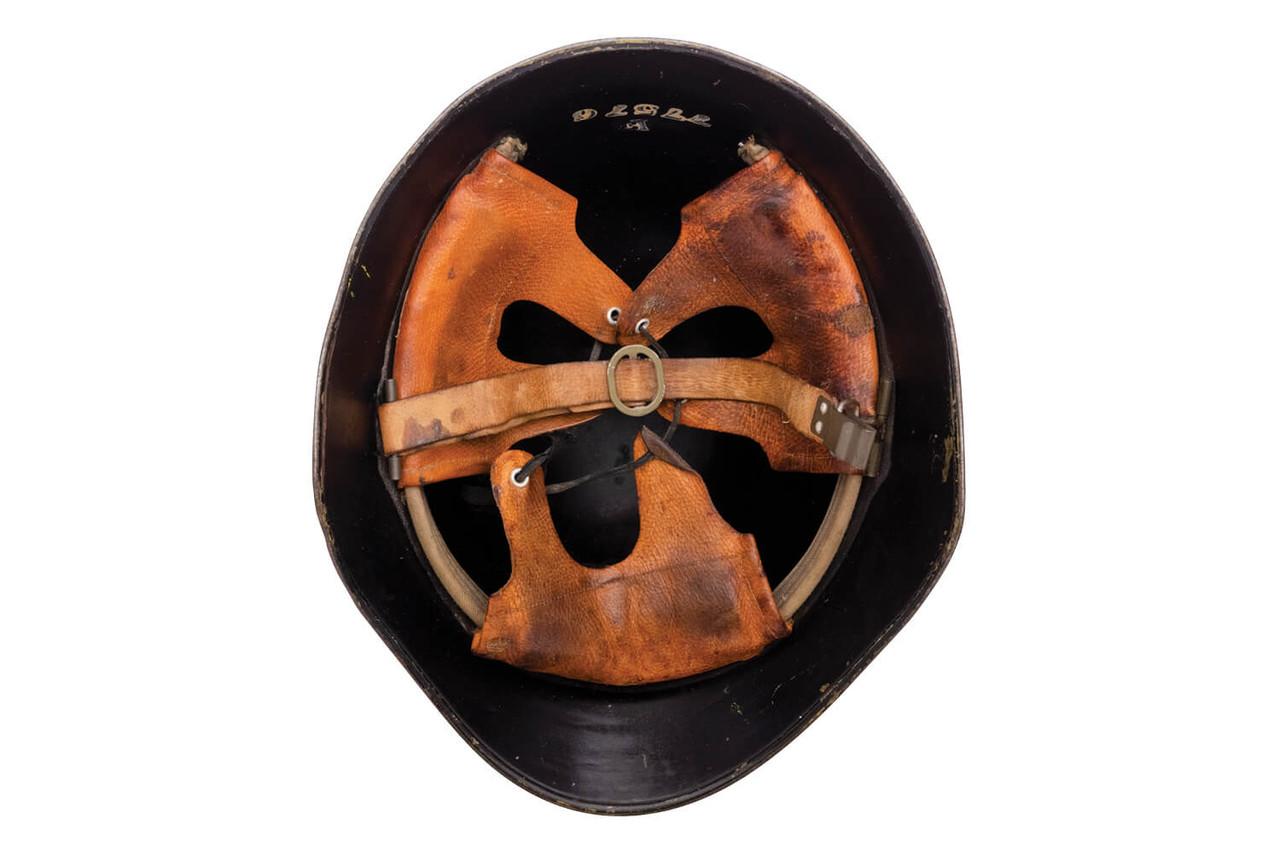 Swiss M1918/40 Firefighter Helmet - Bassecourt (Canton Jura)