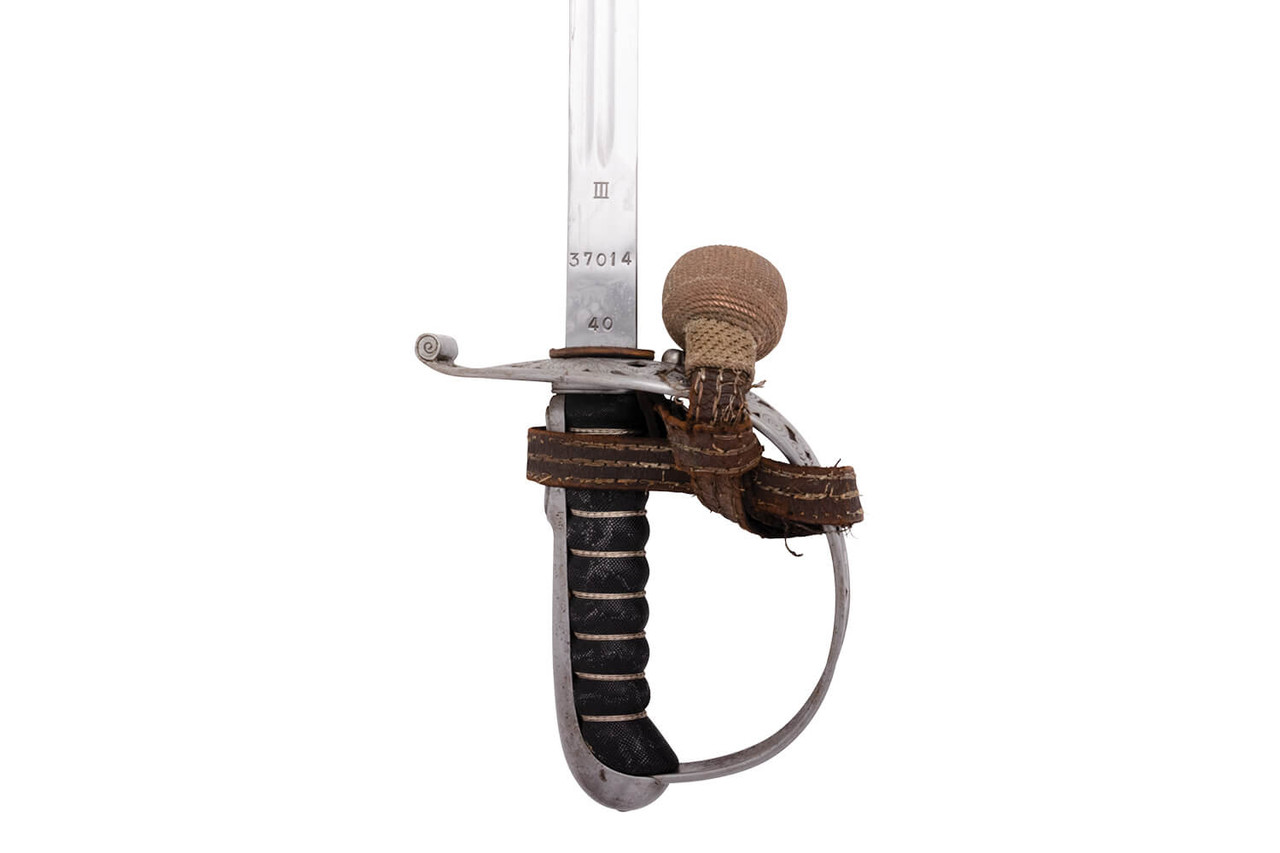 1899 Swiss Army Infantry Officer Sword - s/n 37014
