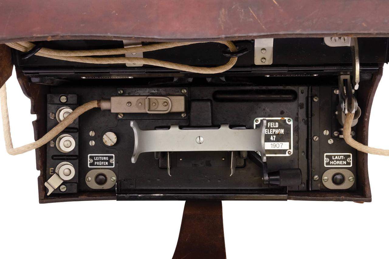 Vintage Swiss Army Field Phone, Model 1947