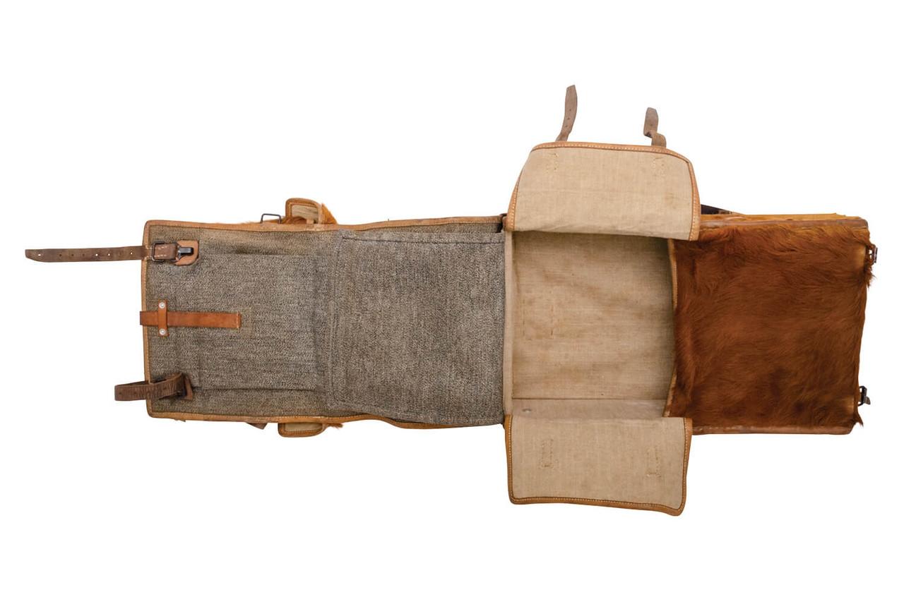 Swiss Infantry Cowhide Backpack - Bern 1945
