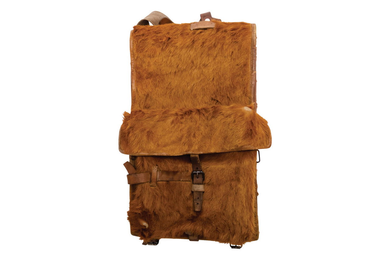 Swiss Infantry Cowhide Backpack - Bern 1945