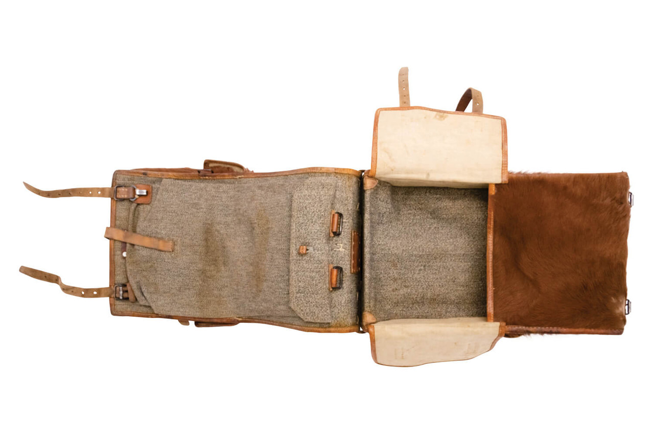 Swiss Infantry Cowhide Backpack - F. FAS, Bern 1945