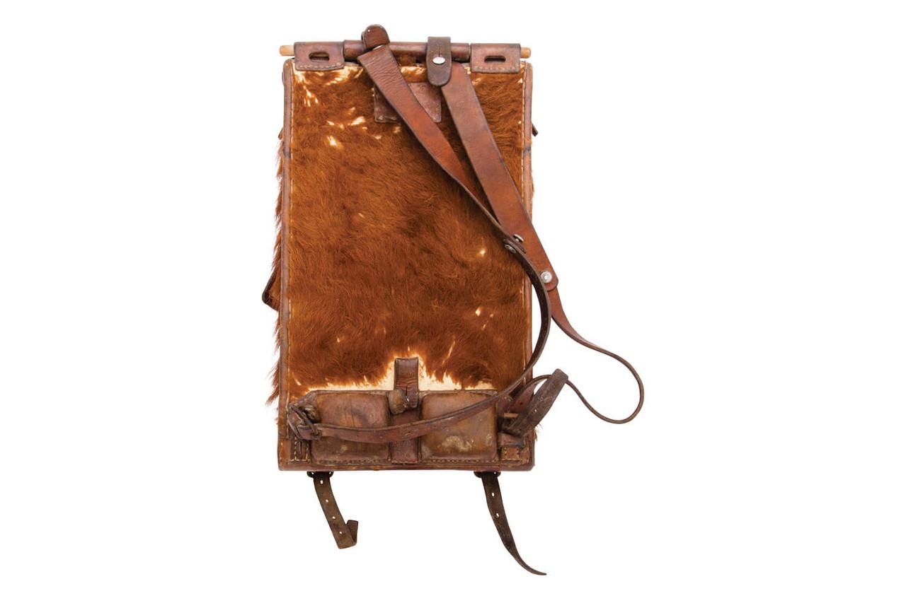Swiss Infantry Cowhide Backpack - G. Müller, Altikon 1944