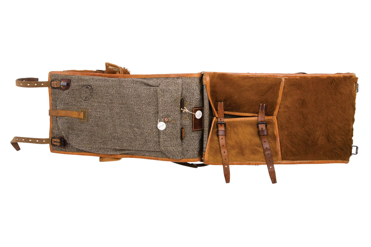 Swiss Infantry Cowhide Backpack - A. Egger, St. Gallen 1945