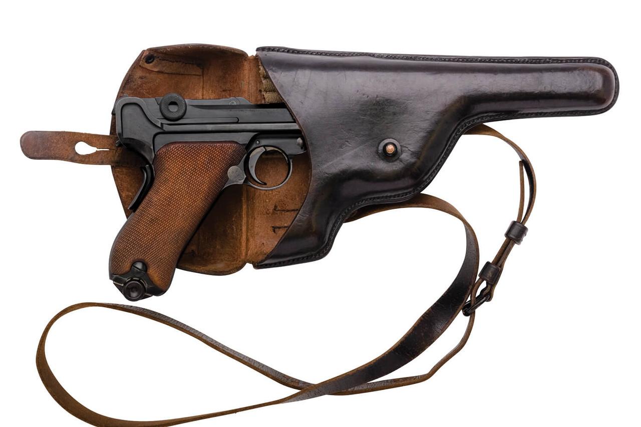 Swiss 1929 Revolver Holster - Black Leather