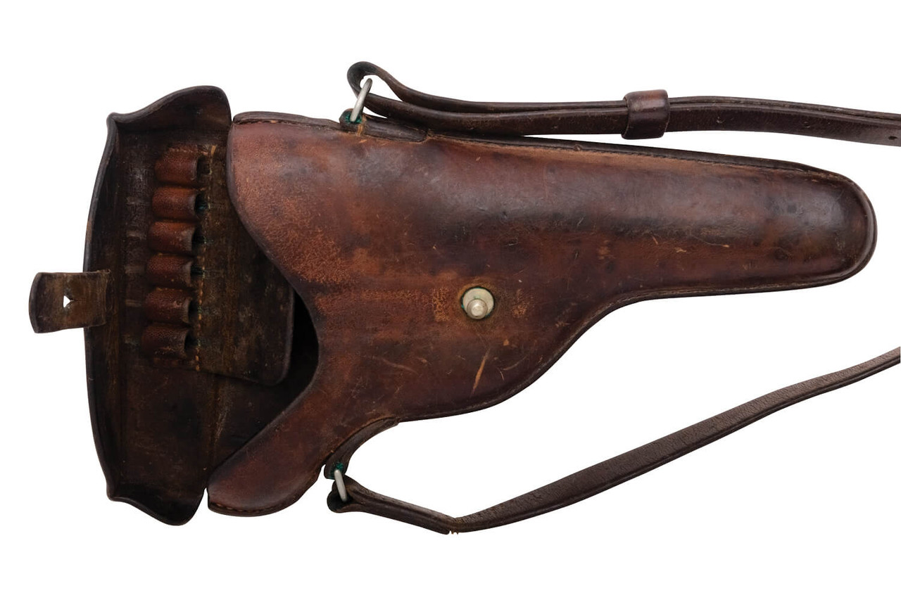Swiss 1929 Revolver Holster - Brown Leather