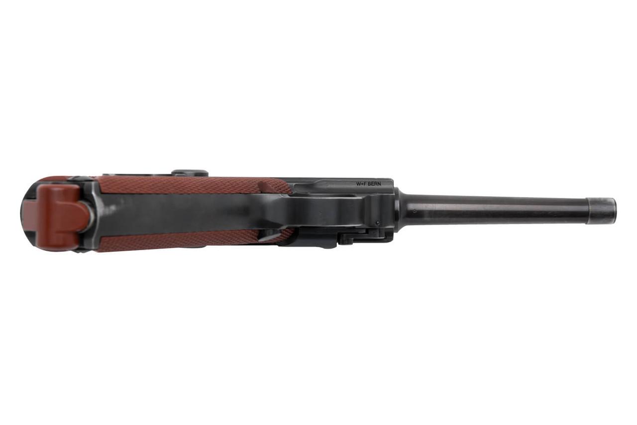 W+F Bern Swiss 06/29 Luger w/ Holster - Red Grips - sn 50xxx