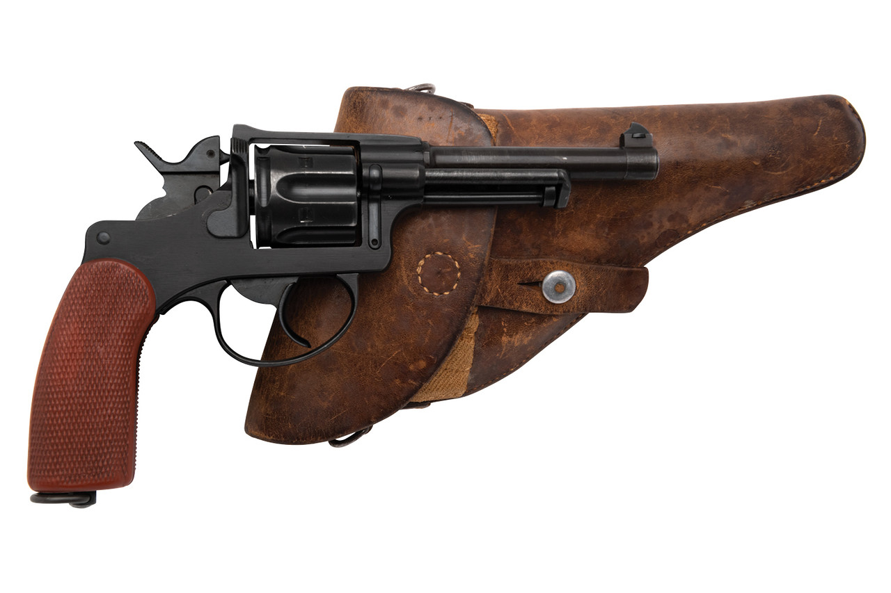 W+F Bern Swiss 1929 Revolver w/ Holster - Red Grips - sn 54xxx