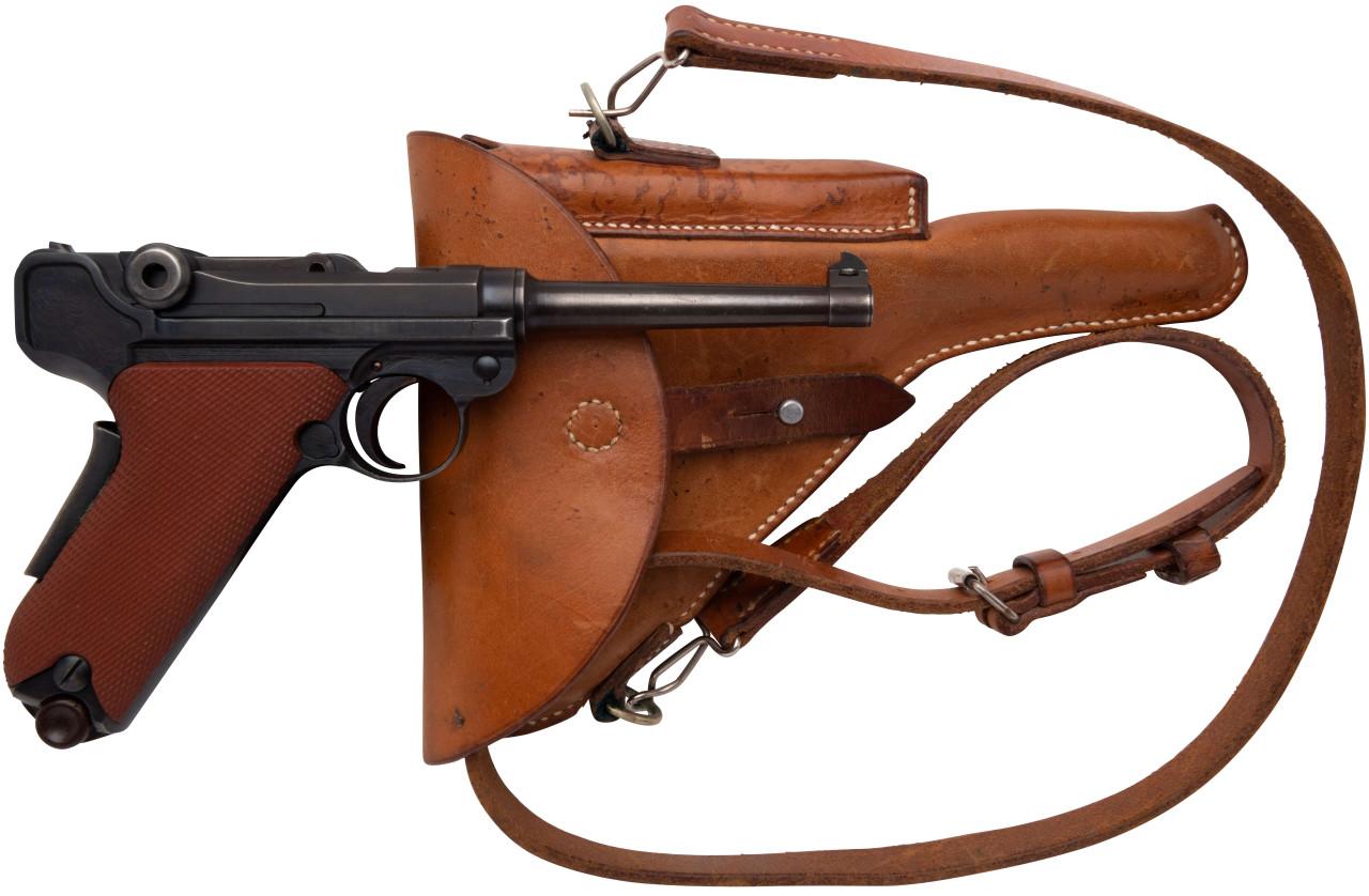 W+F Bern Swiss 06/29 Luger w/ Red Grips & Holster - sn 52xx4