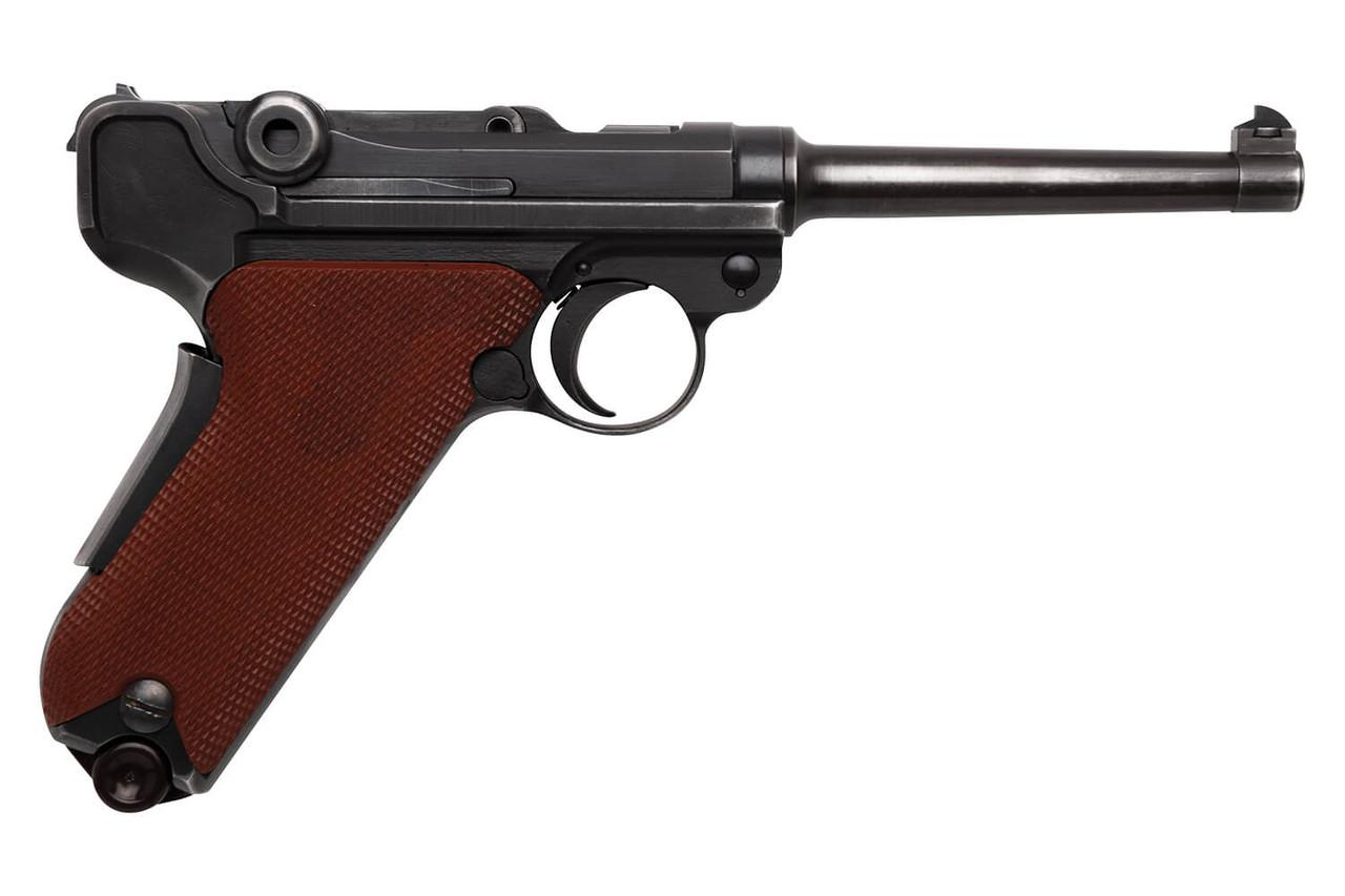 W+F Bern Swiss 06/29 Luger w/ Red Grips & Holster - sn 52xxx