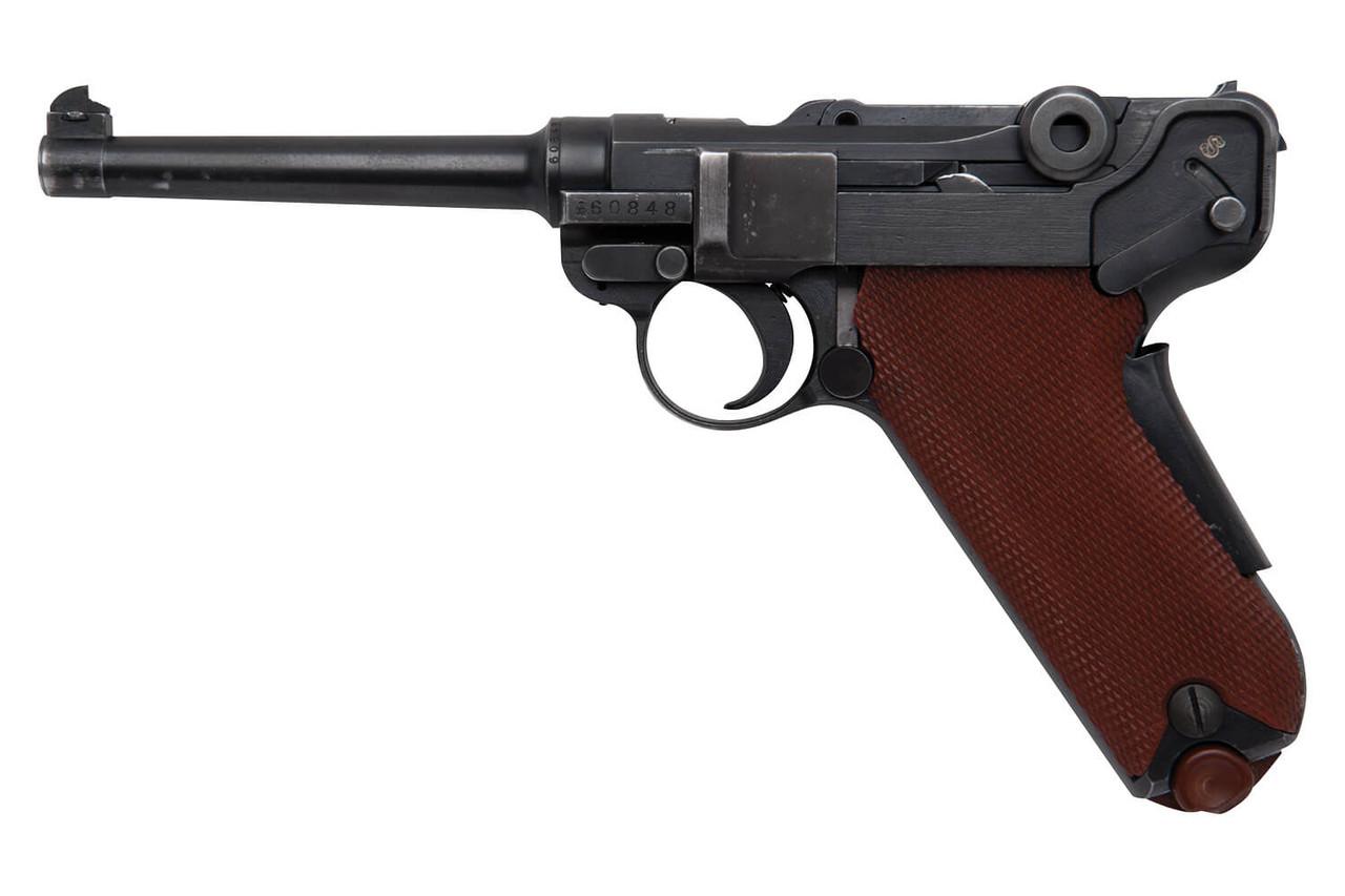 W+F Bern Swiss 06/29 Luger w/ Red Grips & Holster - sn 60xxx