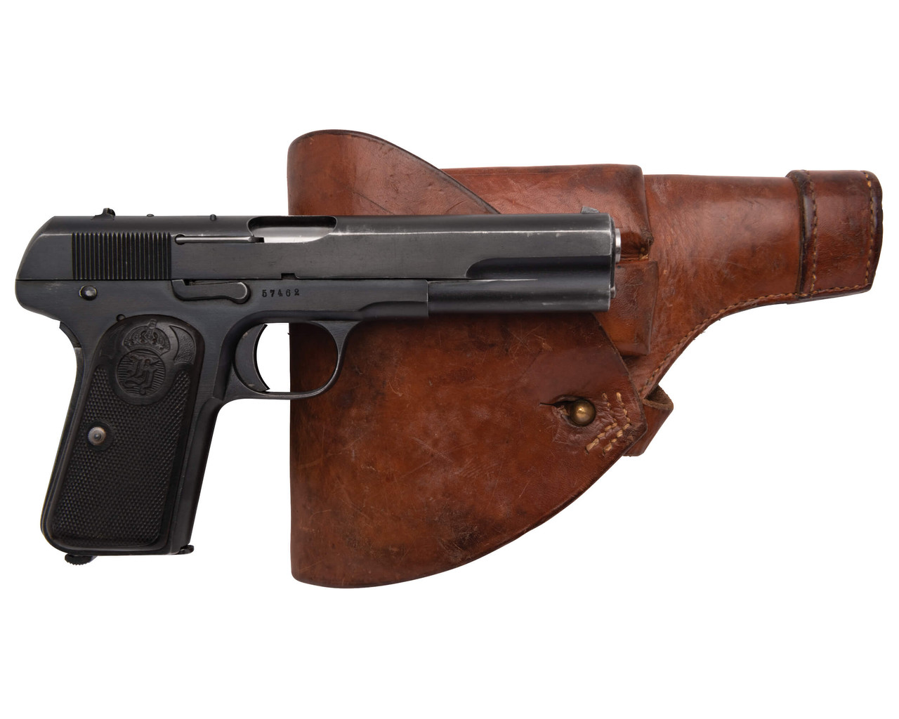 Husqvarna 1907 w/ Holster and Spare Mags - sn 57xxx