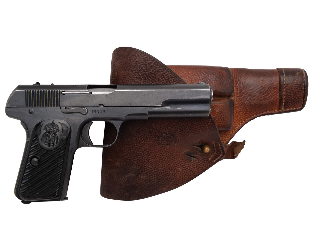 Husqvarna 1907 w/ Holster and Spare Mags - sn 76xxx
