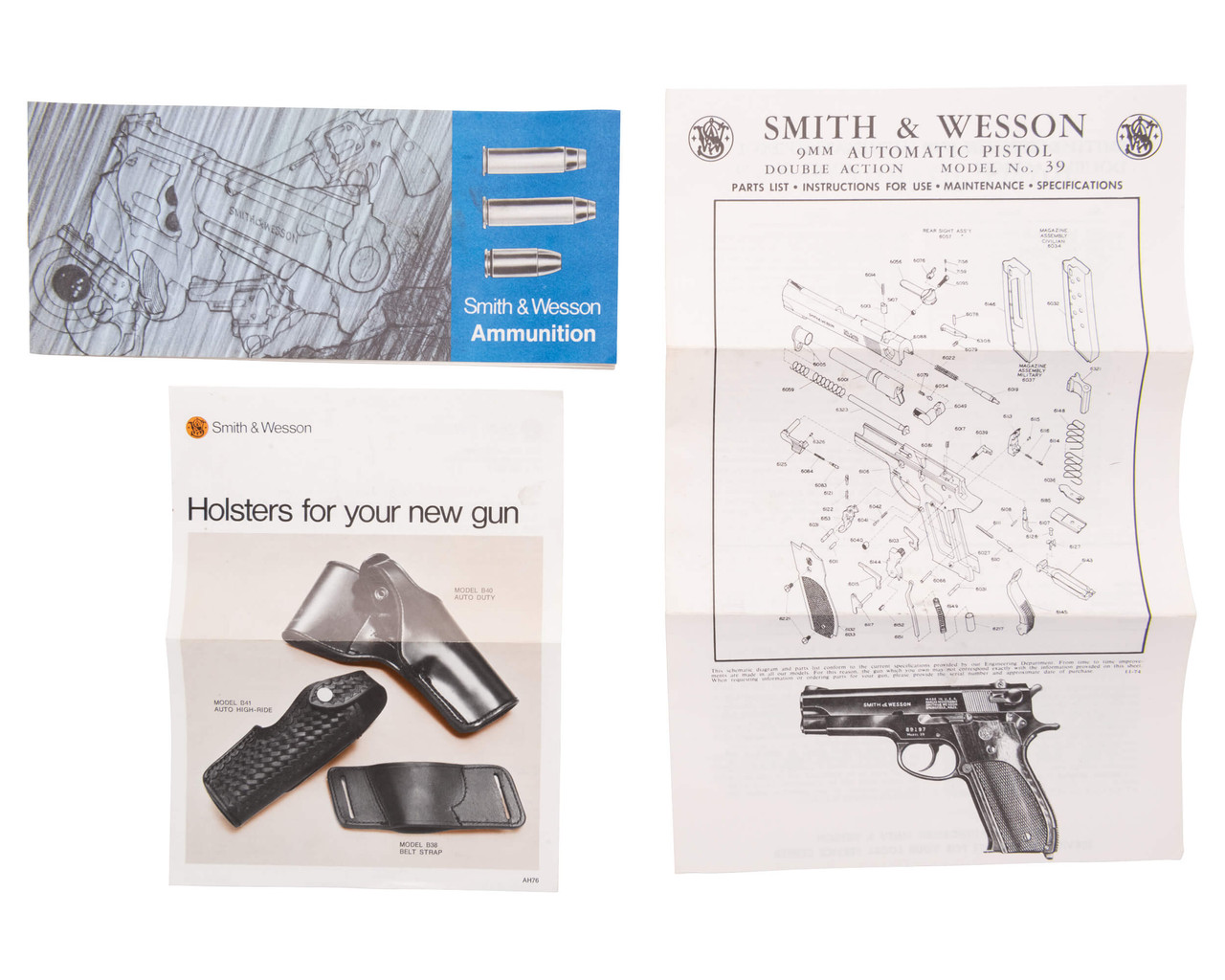 Smith & Wesson 39-2 - Canton Vaud Police - sn A567xxx