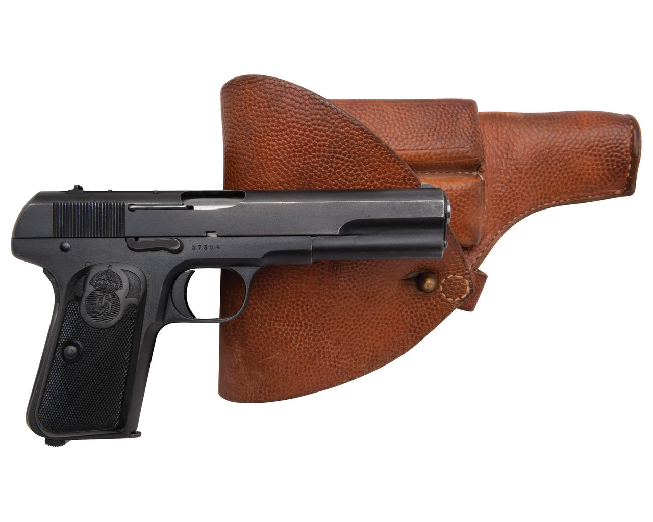 Husqvarna 1907 w/ Holster and Spare Mags - sn 573xx