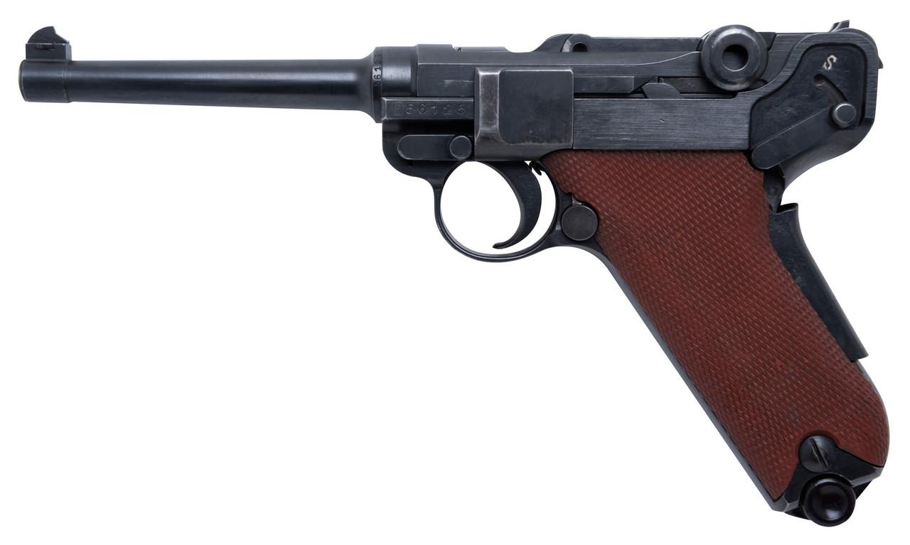 W+F Bern Swiss 06/29 Luger w/ Holster - Red Grips - sn 56xxx
