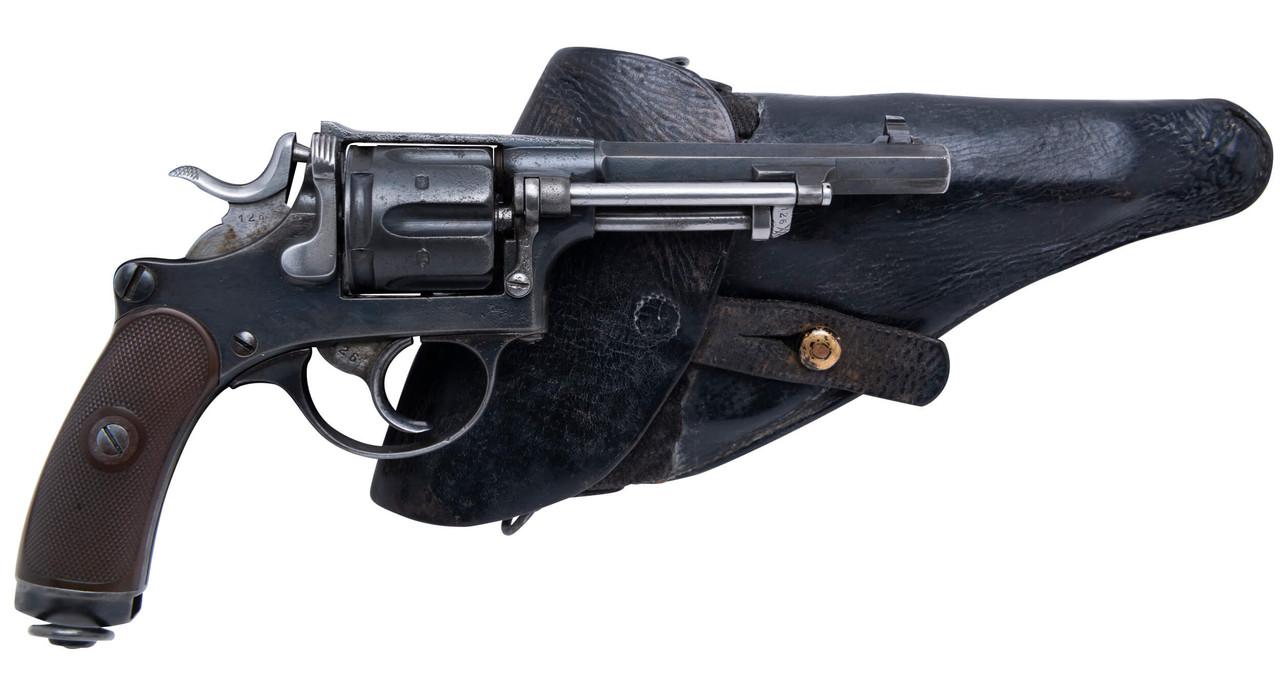 Antique W+F Bern Swiss 1882 Revolver w/ Holster - sn P3xxx