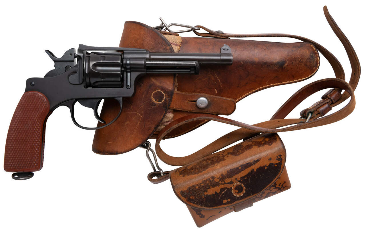 W+F Bern Swiss 1929 Revolver - Red Grips - 54xxx