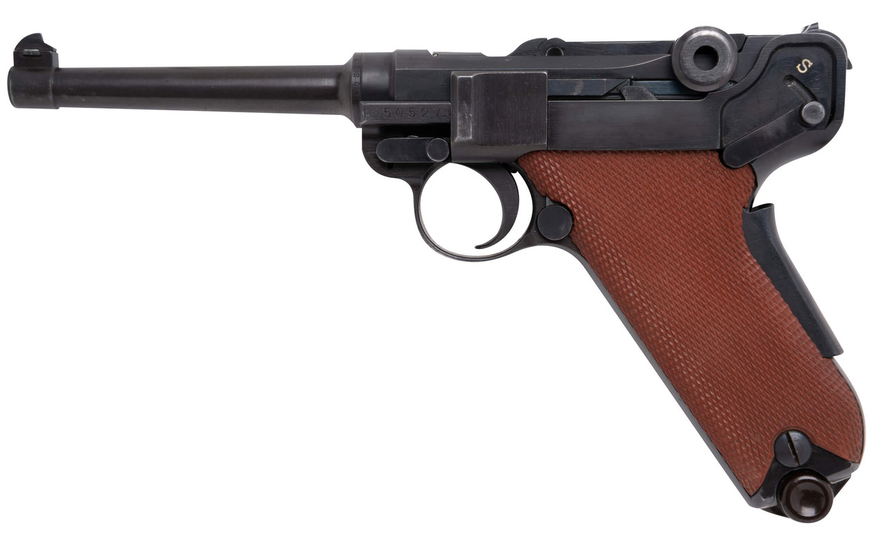 W+F Bern Swiss 06/29 Luger w/ Red Grips, Holster & Spare Mag - sn 50xxx