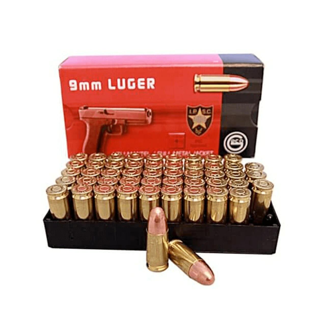 GECO 9mm 124gr Target FMJ RN 1,000rd Case