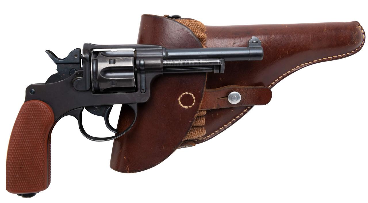 W+F Bern Swiss 1929 Revolver - Red Grips & Holster - 55xxx