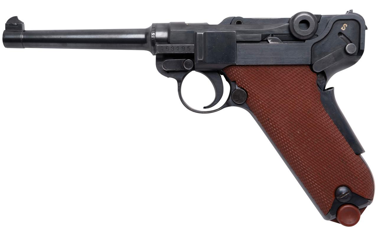 W+F Bern Swiss 06/29 Luger - Red Grips - sn 53xxx