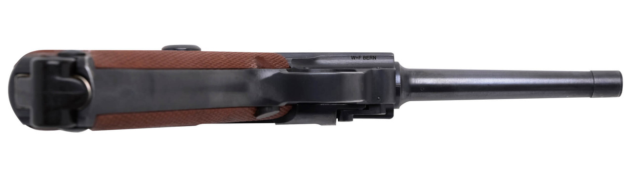 W+F Bern Swiss 06/29 Luger w/ Holster, Spare Mag & Red Grips - sn 55xxx