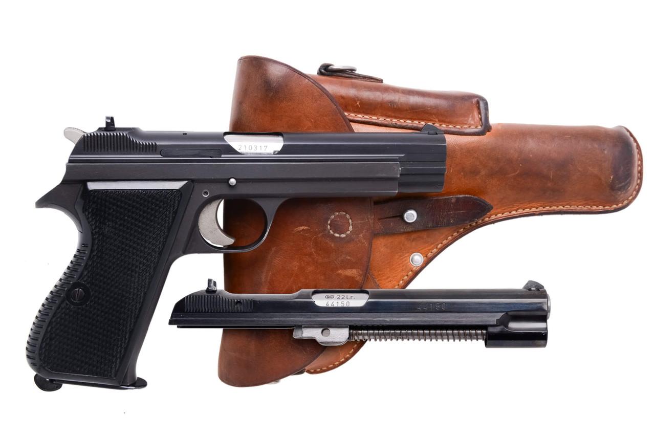 SIG Swiss Army P49 w/ Holster & .22LR Conversion - sn A2103xx