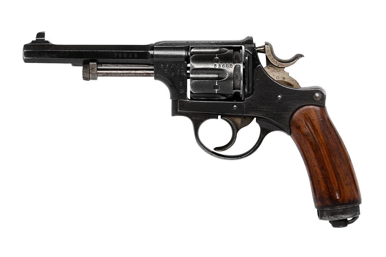 W+F Bern Swiss 1929 Revolver w/ Wood Grips and Holster - sn 35xxx
