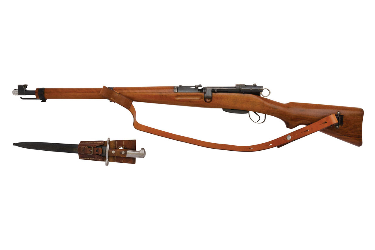 Swiss ZFK 31/42 Sniper Rifle w/ matching bayonet - sn 4510XX