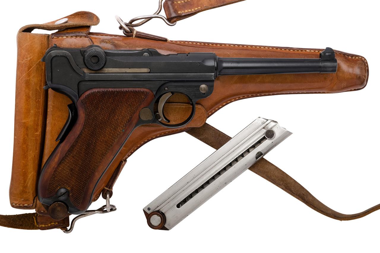 W+F Bern Swiss 06/24 w/ leather holster & spare mag - sn 22xxx