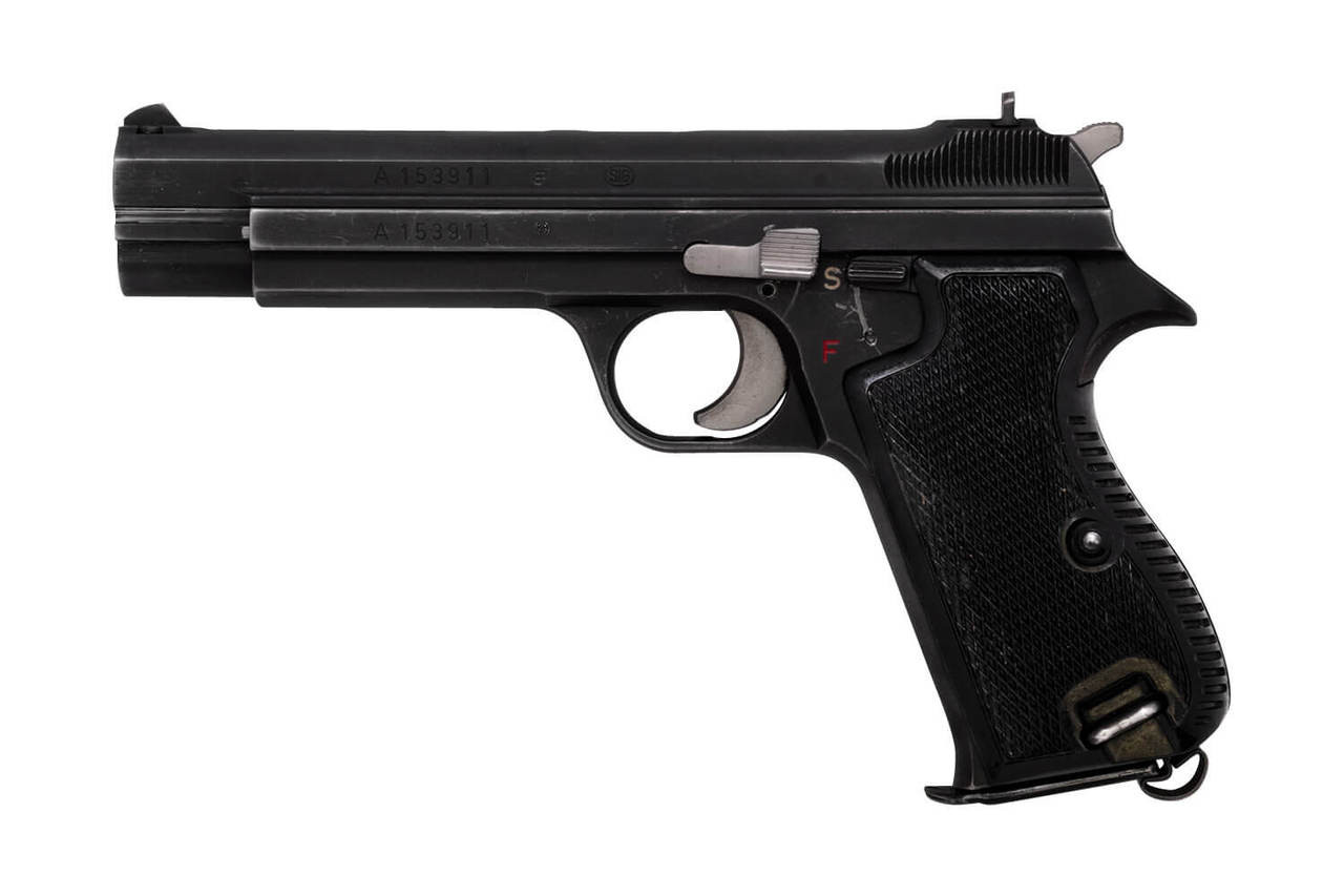 SIG Swiss Army P49 w/ Holster, Spare Mag, Cleaning Kit - sn A153xxx
