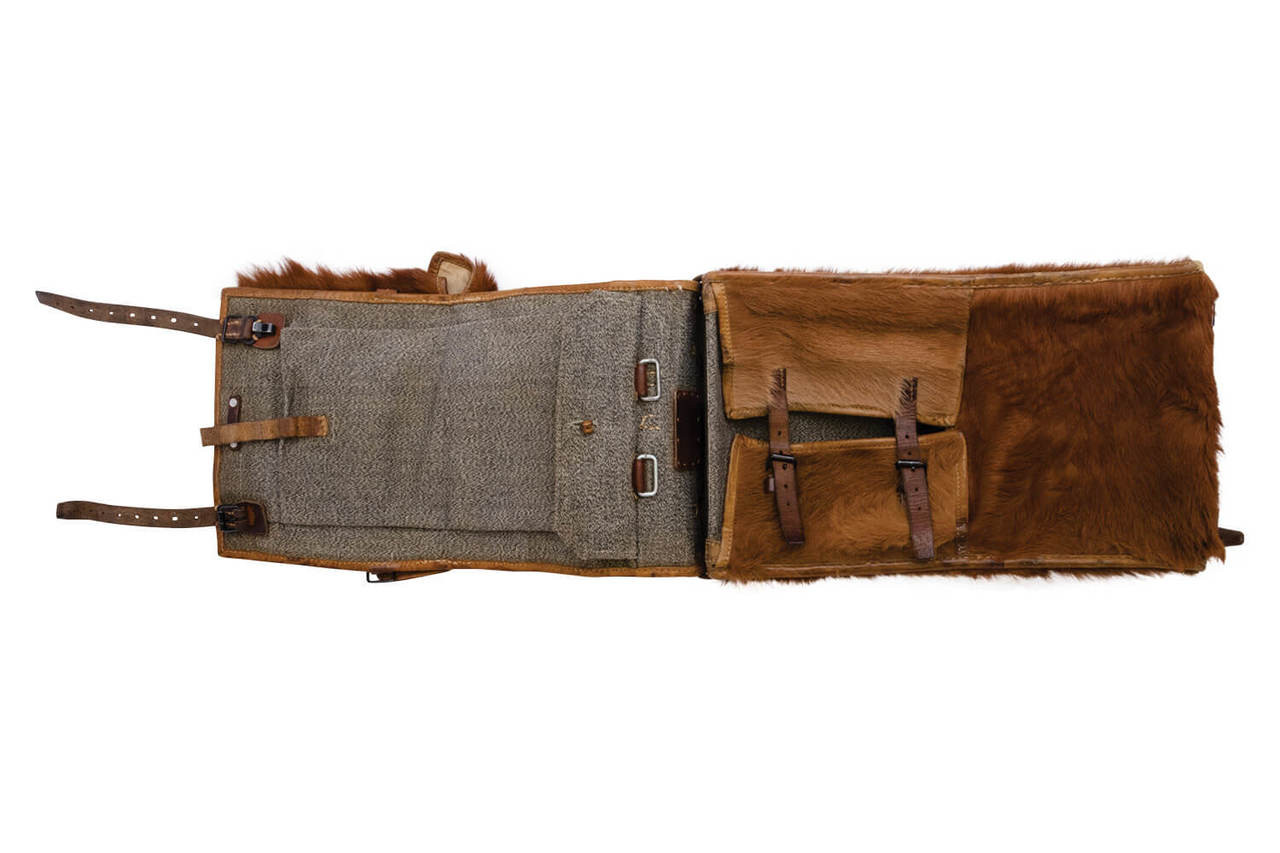 Swiss Army Cowhide Backpack with front pocket (1945)