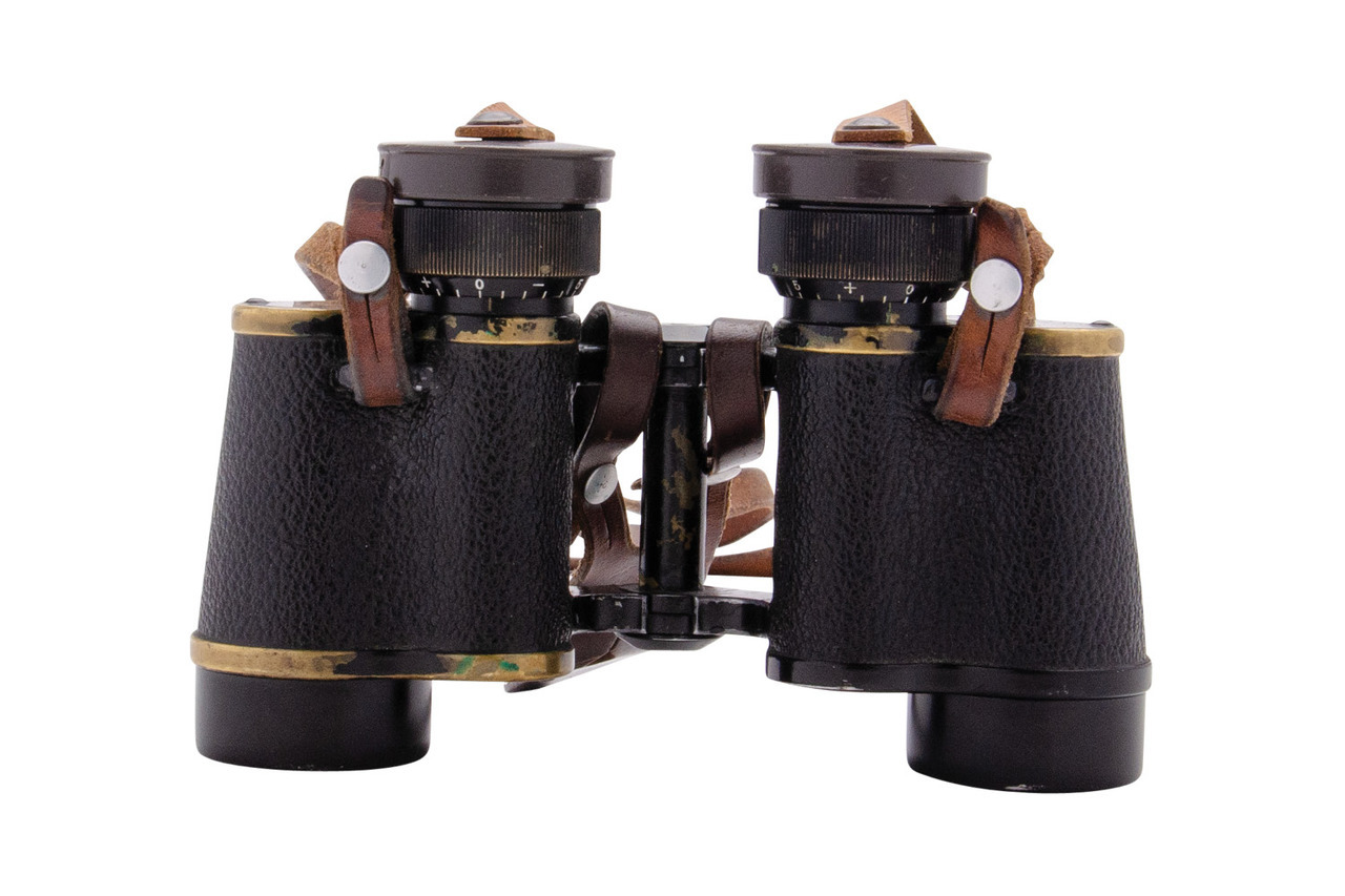 WWII Swiss Infantry Kern Aarau Binoculars - sn 3464