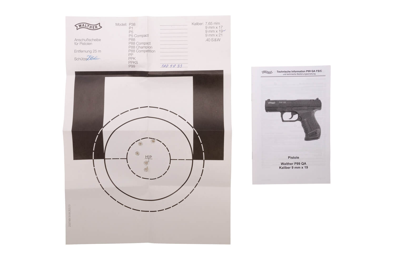 Walther P99QA Full Size - sn FAD5xxx