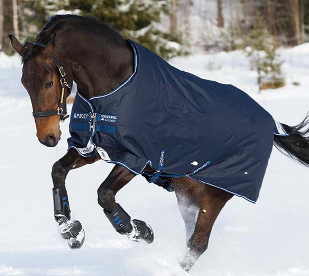 Amigo Bravo 12 Original Lite Turnout Sheet 1200 D Navy Horse /& Pony Sizes