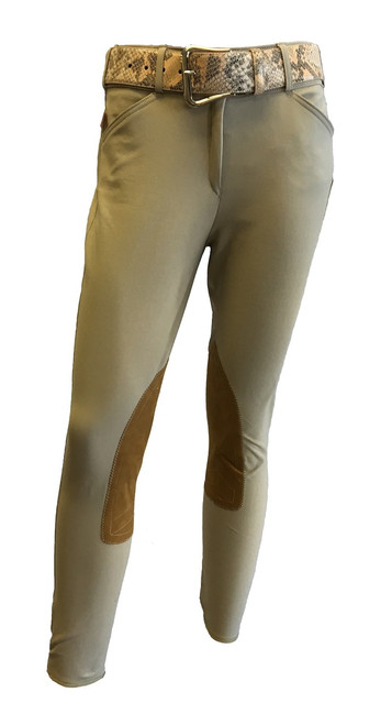 Tailored Sportsman Trophy Hunter Breech.  Tan, Mid Rise, Front Zip