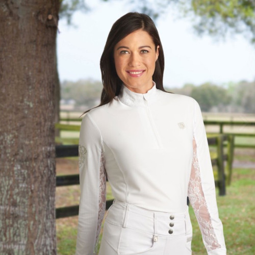 Romfh Lace Show Shirt in White/White