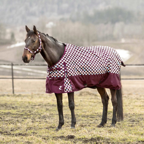 Horze Nevada Rain Turnout Sheet - Port Royale Dark Red