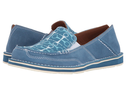 Ariat Cruiser Slip On Shoe in Teal/Snaffle Bits