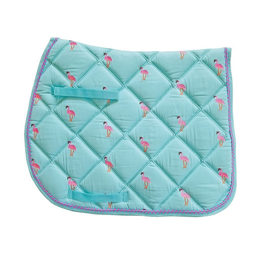 Lettia All Purpose Embroidered Saddle Pad - Flamingo