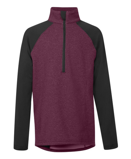 Kids Daily Ride Half Zip - Berry
