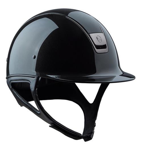 Samshield Shadow Glossy helmet - black, front view