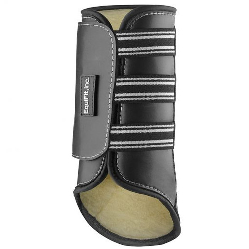 EquiFit SheepsWool MultiTeq Front Boot - Black