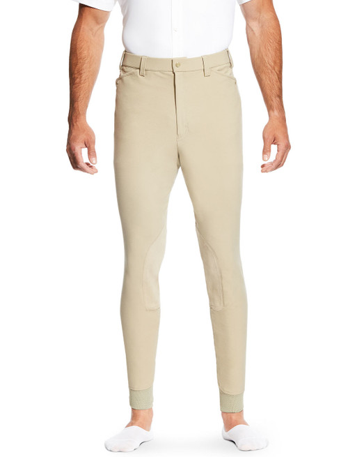 Ariat Men's Heritage Elite Knee Patch Breech - Tan